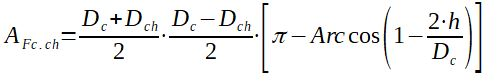 Calculation of factor Afc.ch to determine the baffle leakage effect in Bell Delaware method