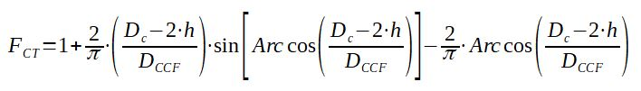 Calculation of FCT correction factor for Bell Delaware method