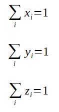 Normalization equations