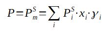 Raoult Law equation with activity coefficient